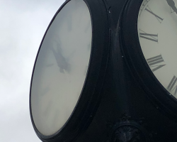 Franklin Lakes Street Clock Before 2
