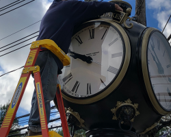 Franklin Lakes Street Clock Restored 1