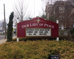 Our Lady of Peace Sign